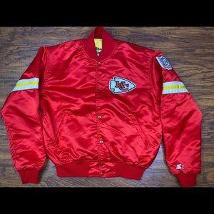 Vintage Kansas City chiefs satin starter jacket